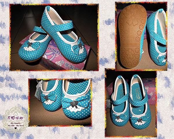 2013.03.24水玉點點日系甜美公主娃娃鞋(藍色)