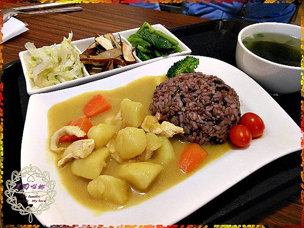 07日式咖哩雞五穀飯(套餐$90)
