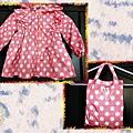 2013.04.10韓版甜美水玉點點女童雨衣時尚兒童雨衣-01