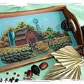 木器彩繪教學作品-托盤