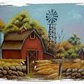 秋色-木器彩繪作品