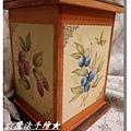 果物四方盒-木器彩繪作品