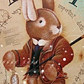 彩繪作品-兔子先生