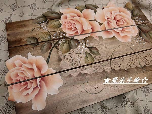 寫實玫瑰花彩繪