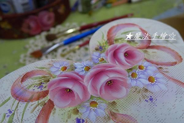 玫瑰彩繪-桃心信插盒