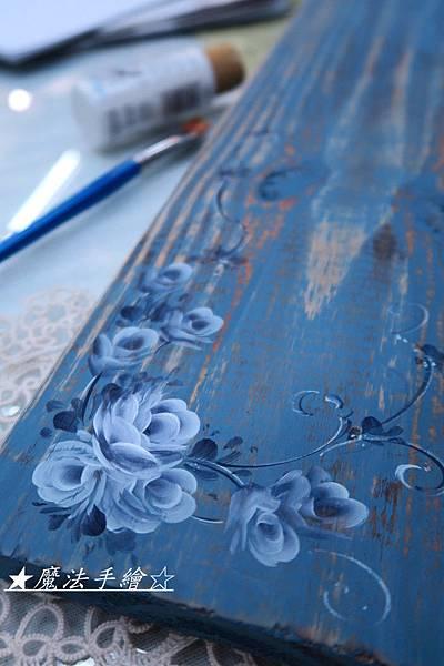 彩繪玫瑰-傢飾彩繪教學
