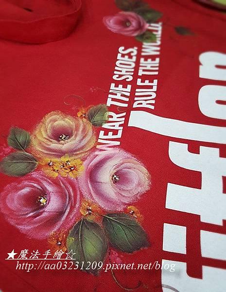 布品彩繪-玫瑰