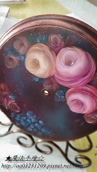 傢飾彩繪-玫瑰花鐘