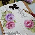 彩繪玫瑰-面紙盒抽布包
