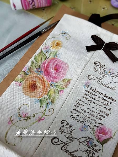 面紙盒抽-彩繪布品