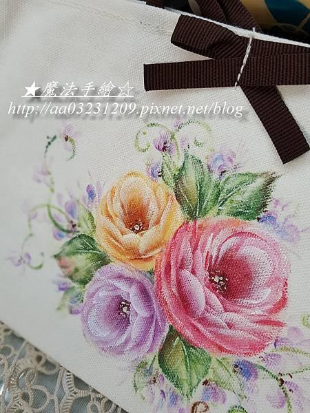 玫瑰彩繪-布包
