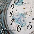 玫瑰彩繪-花鐘