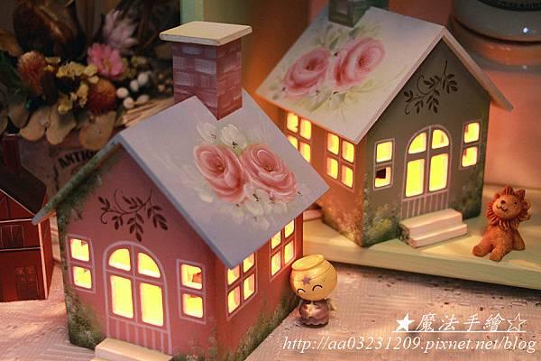 小屋夜燈-玫瑰花房