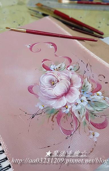 彩繪玫瑰風情-筆札記