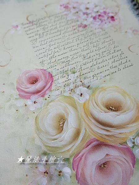 彩繪玫瑰教學