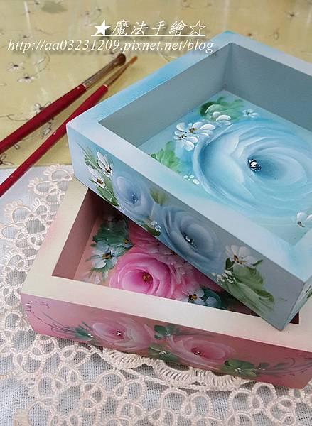 小木盒彩繪