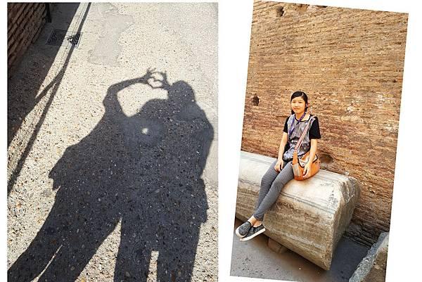 「羅馬競技場」我們玩趣不斷  坐上的石塊 上千年之久了~