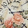 彩繪玫瑰-復古時鐘款