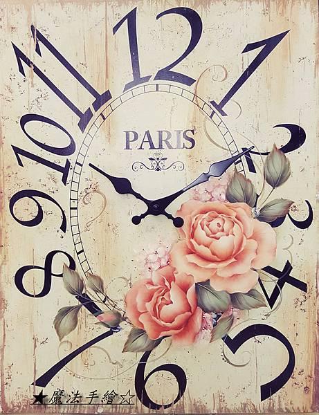 復古玫瑰花鐘