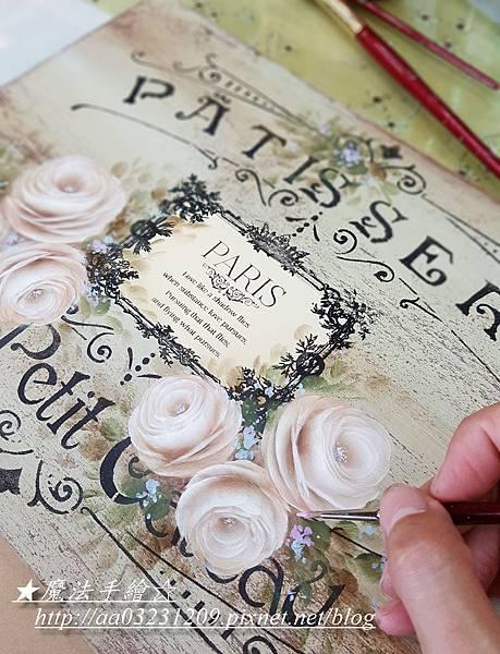 花卉彩繪-玫瑰彩繪