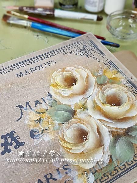 裝飾彩繪-日式玫瑰