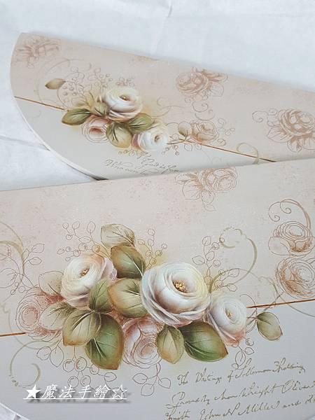日本絹印應用-玫瑰彩繪