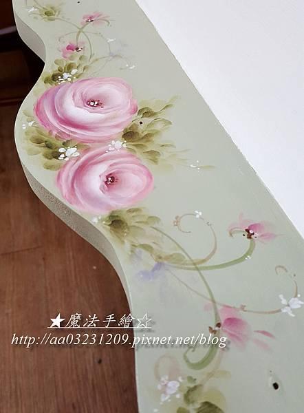 玫瑰彩繪-壁層架