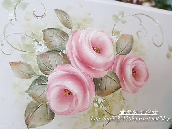 魔法手繪-精選單日課-玫瑰彩繪