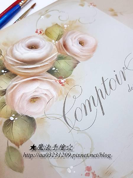 傢飾彩繪-玫瑰作品
