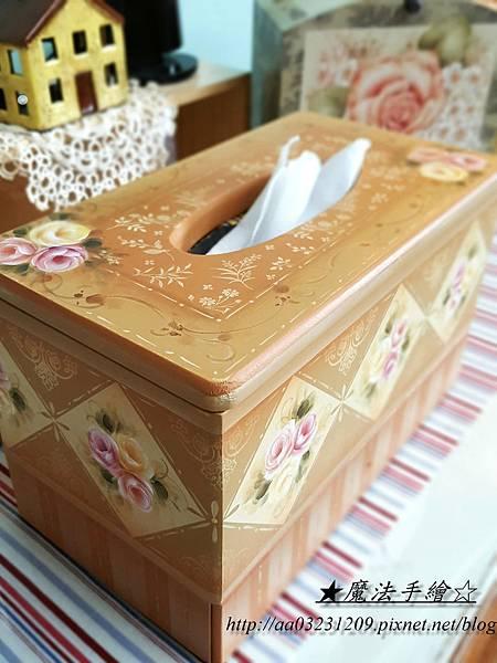 鄉材彩繪面紙盒-彩繪教學
