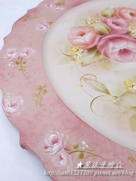 鄉村彩繪-彩繪玫瑰