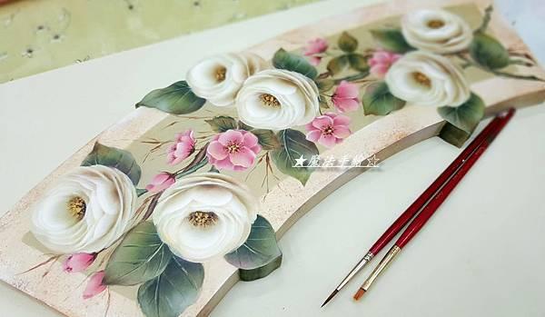 英式玫瑰彩繪-彩繪教學