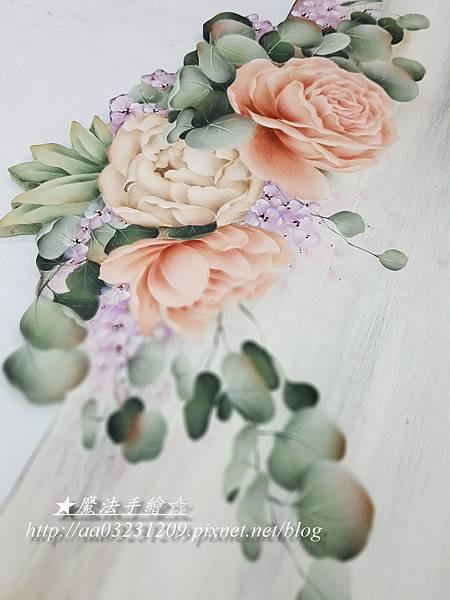 彩繪玫瑰婚禮板-教學課程