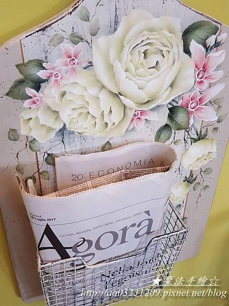玫瑰信插籃-彩繪課程