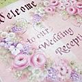 玫瑰婚禮板-婚禮迎賓板