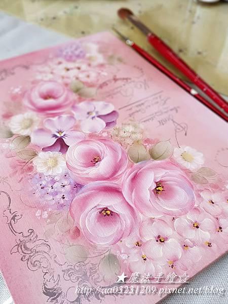 玫瑰彩繪教學