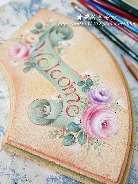 WELCOME彩繪飾板-彩繪教學