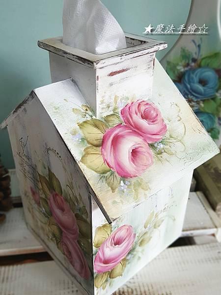 小屋彩繪-面紙盒抽