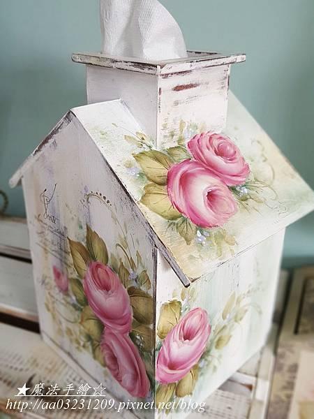 彩繪玫瑰 木屋彩繪