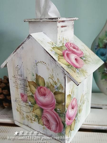 雜貨風彩繪 彩繪面紙盒抽