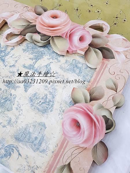 魔法手繪-彩繪玫瑰花鏡