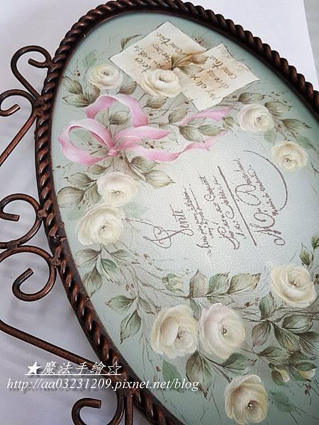 彩繪作品-日式花飾板