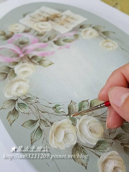 家飾彩繪-玫瑰彩繪教學