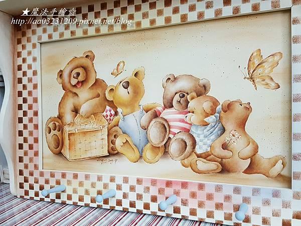 家飾彩繪-熊風層板架