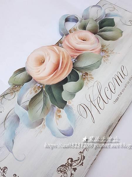 彩繪教學-木器彩繪-玫瑰