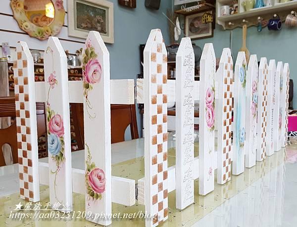 圍籬花架彩繪-彩繪花插