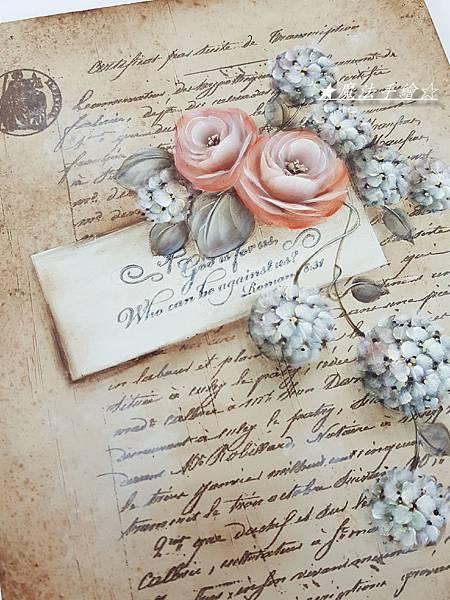 彩繪玫瑰-復古玫瑰彩繪