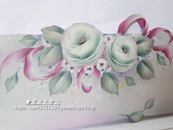 彩繪玫瑰教學-魔法手繪