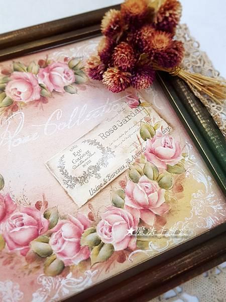 家飾彩繪-玫瑰作品-魔法手繪