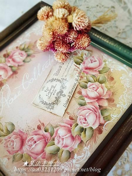 玫瑰字卡-彩繪玫瑰